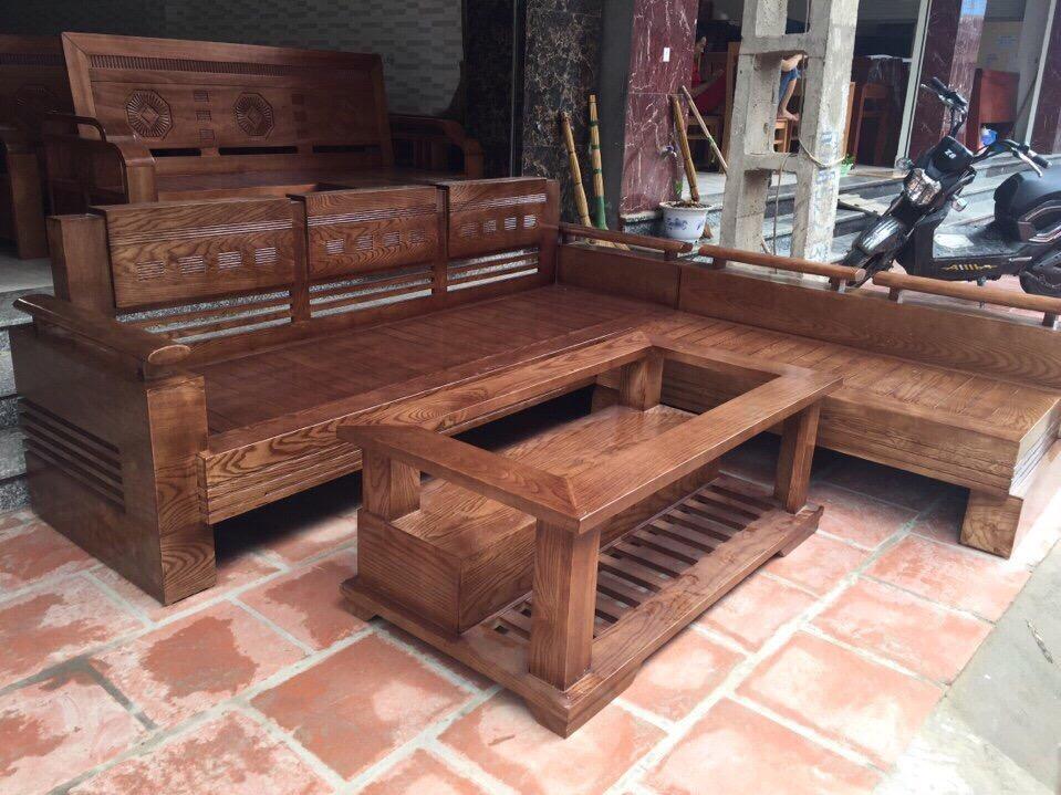 Sofa gỗ sồi sơn màu óc chó có đẹp không - 6