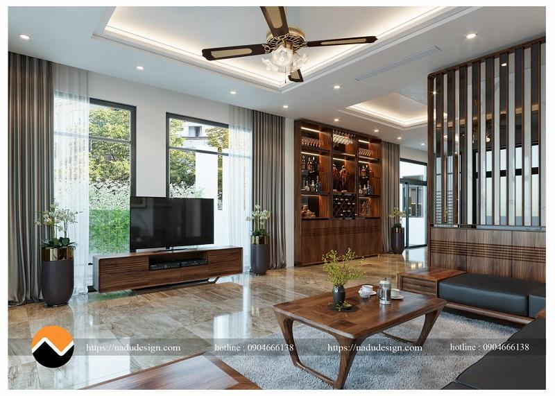 Nội thất gỗ óc chó biệt thự Dương Nội, chủ đầu tư anh Nam.