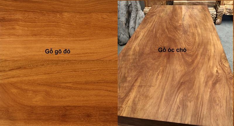 So sánh gỗ óc chó và gỗ gõ đỏ