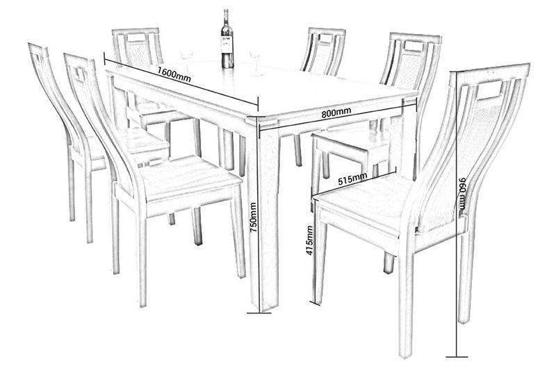 Thiết kế đồ họa bàn ghế gỗ óc chó