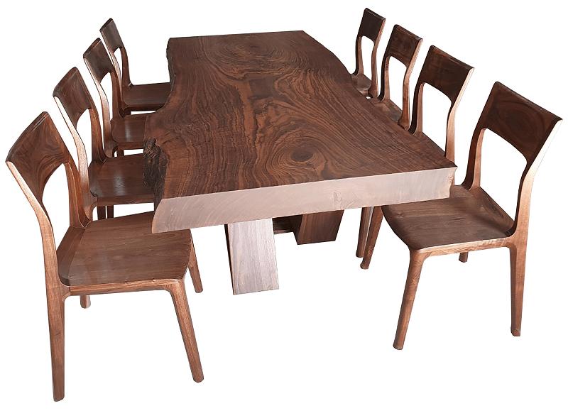 Bàn ăn gỗ óc chó 8 ghế