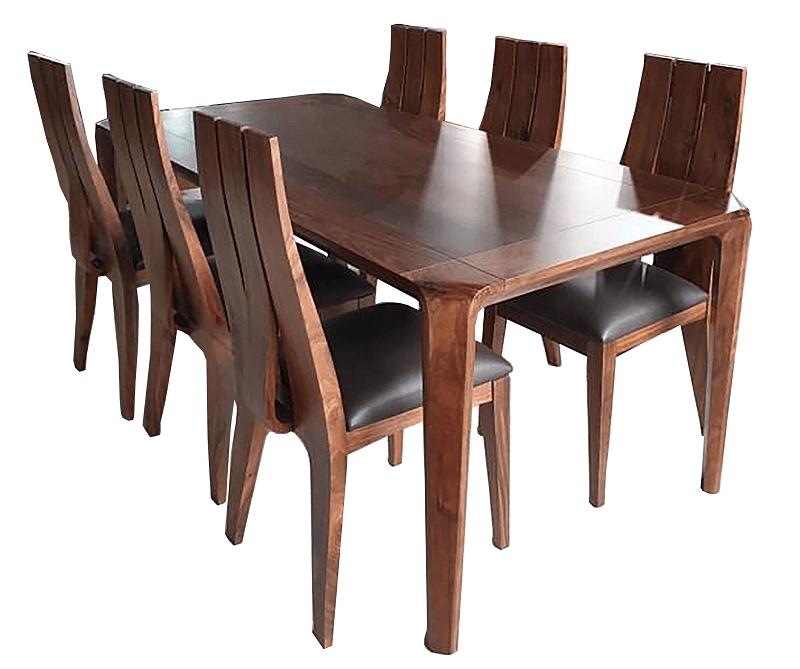 Bộ bàn ăn gỗ óc chó 6 ghế