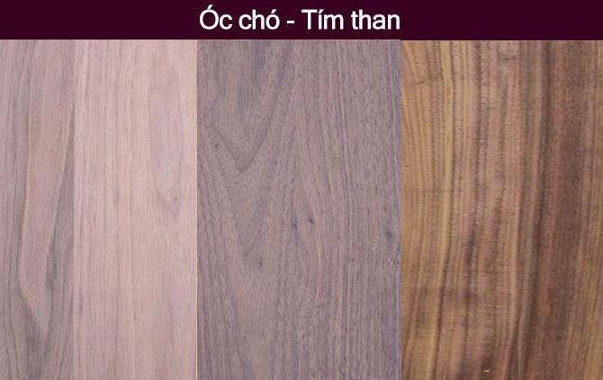Map gỗ óc chó tự nhiên màu tím than