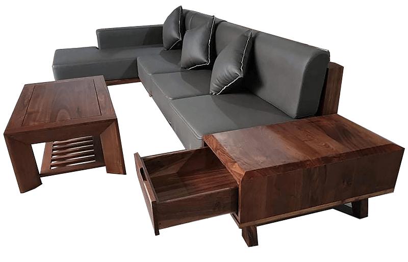 Sofa gỗ óc chó mẫu 3