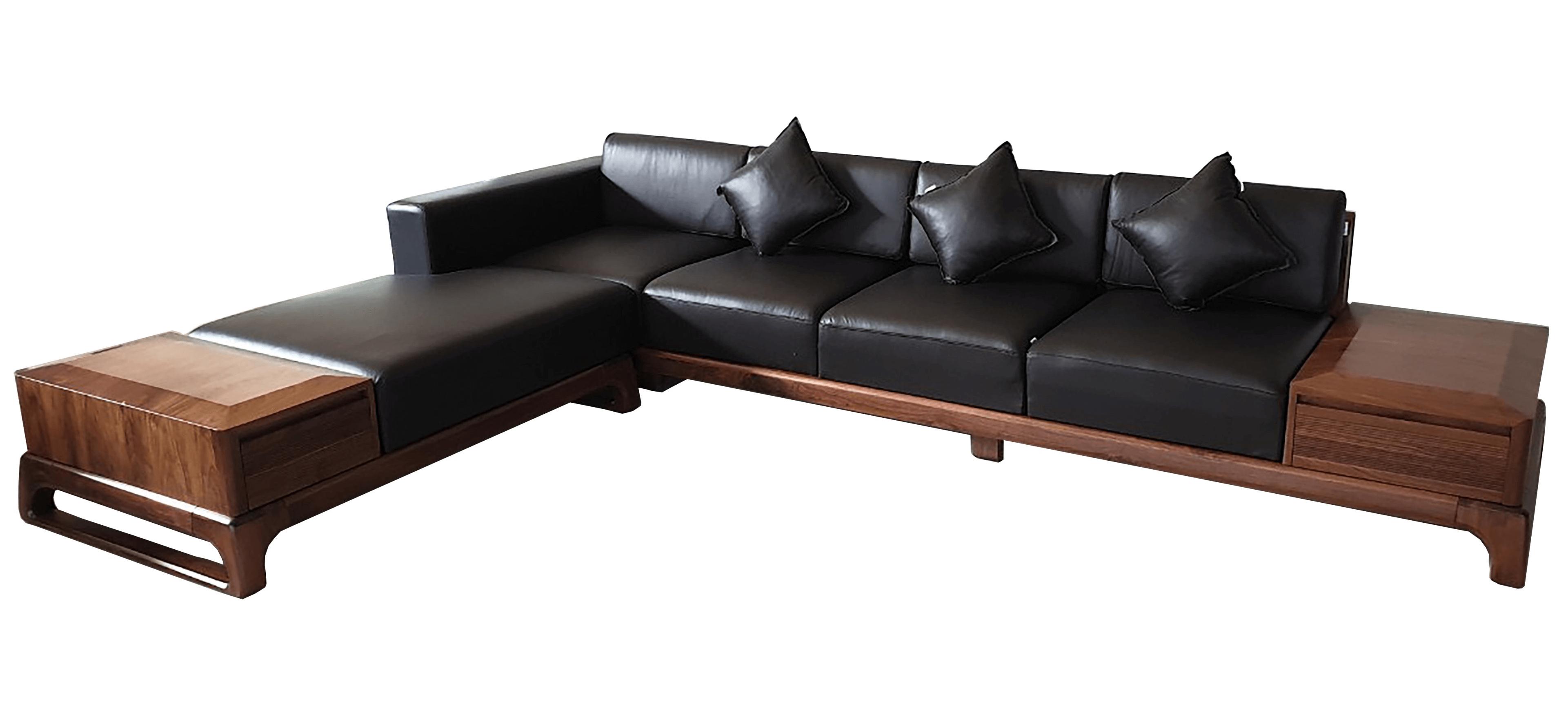 Sofa gỗ óc chó mẫu 2