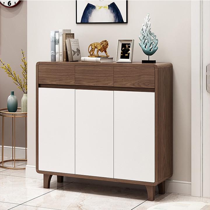 Tủ giầy 5 tầng 3 cánh mặt gỗ vân óc chó cao cấp TUR029 Giao màu ngẫu nhiên - Tủ giày Thương hiệu OEM | SieuThiChoLon.com