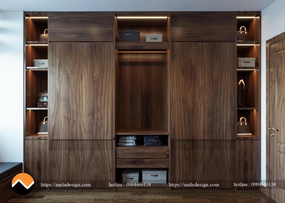Tủ quần áo gỗ óc chó cao cấp – TQA001