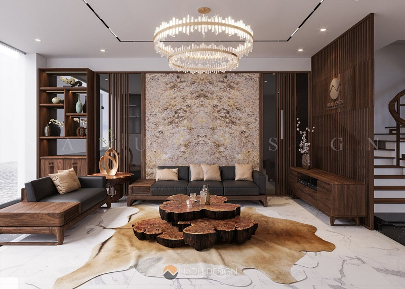 Mẫu sofa gỗ óc chó được yêu thích nhất tại NaDu Design