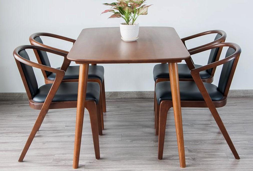 Bộ bàn ăn 4 ghế CBNF03 | Cubik Decor