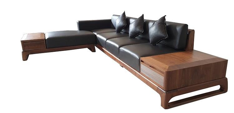 Sofa gỗ óc chó do NaDu Design sản xuất đẹp tinh tế và đa dạng về mẫu mã