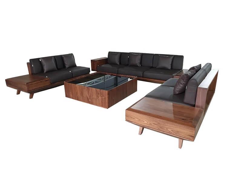 Bộ sofa gỗ óc chó thương hiệu NaDu Design