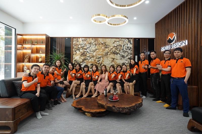 Đội ngũ nhân viên NaDu Design văn phòng Hà Nội