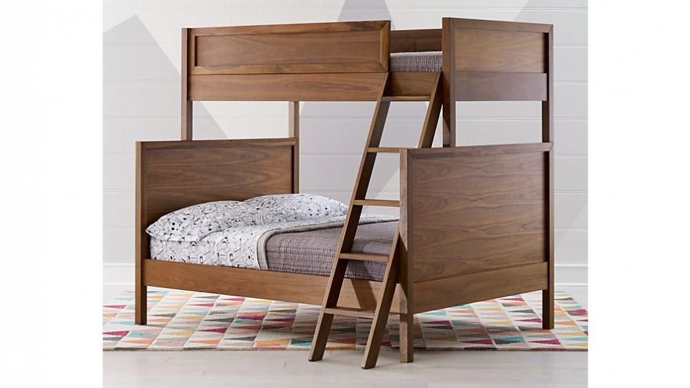Giường tầng gỗ óc chó cho bé