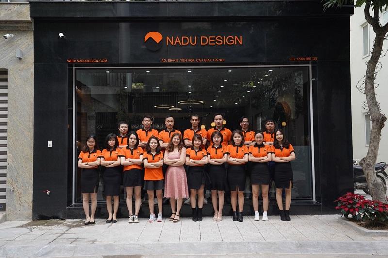 Showroom NaDu Design và nhân sự khối văn phòng