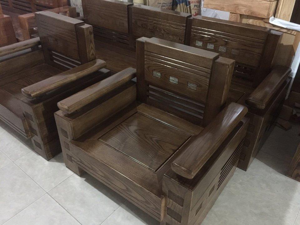 Sofa gỗ sồi sơn màu óc chó có đẹp không - 1