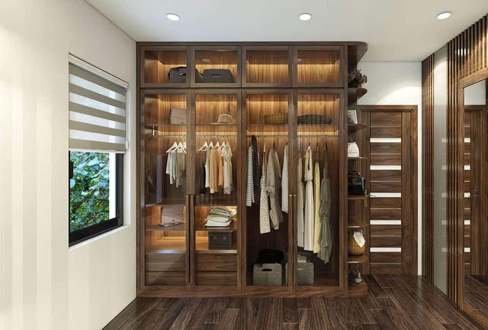 Các loại tủ 4 buồng gỗ óc chó thiết kế đẹp, đa năng, độ bền cao - Nadu Design