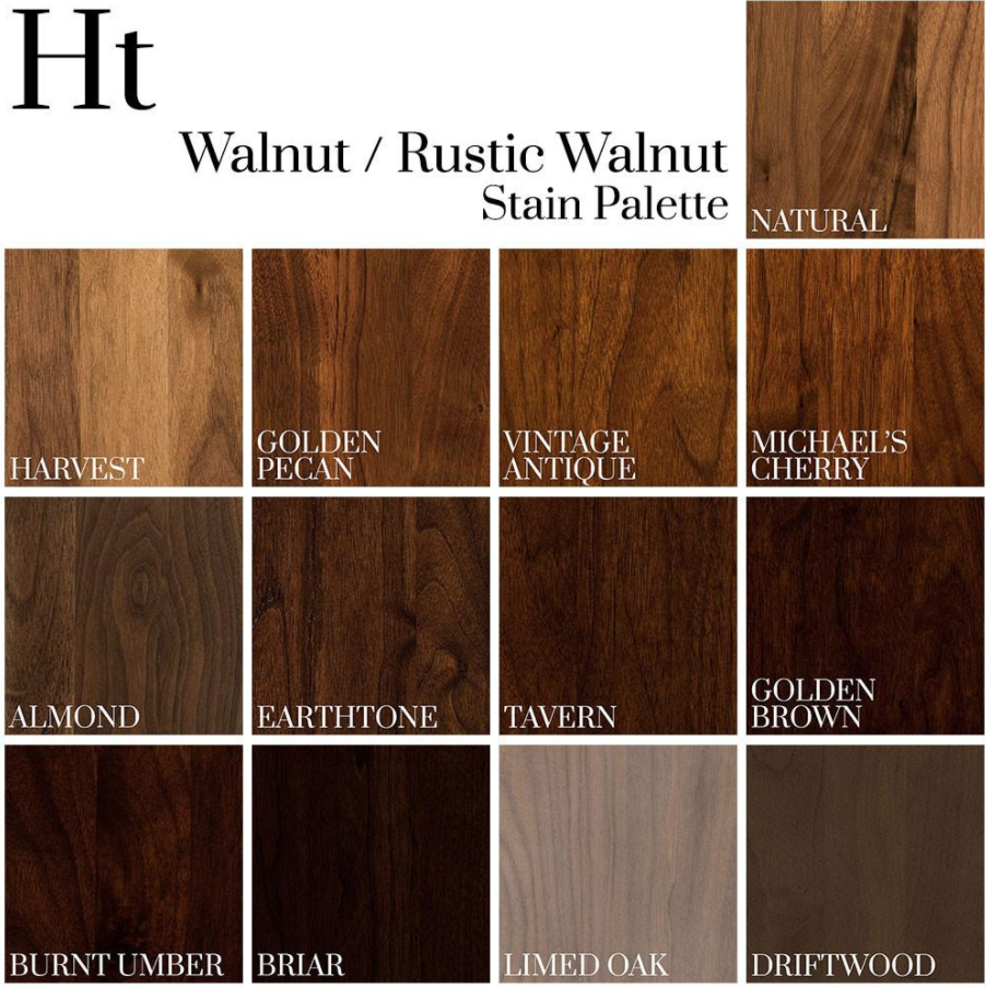 Walnut / Rustic Walnut stain palette | Dark wood stain, Wood floor colors, Staining wood
