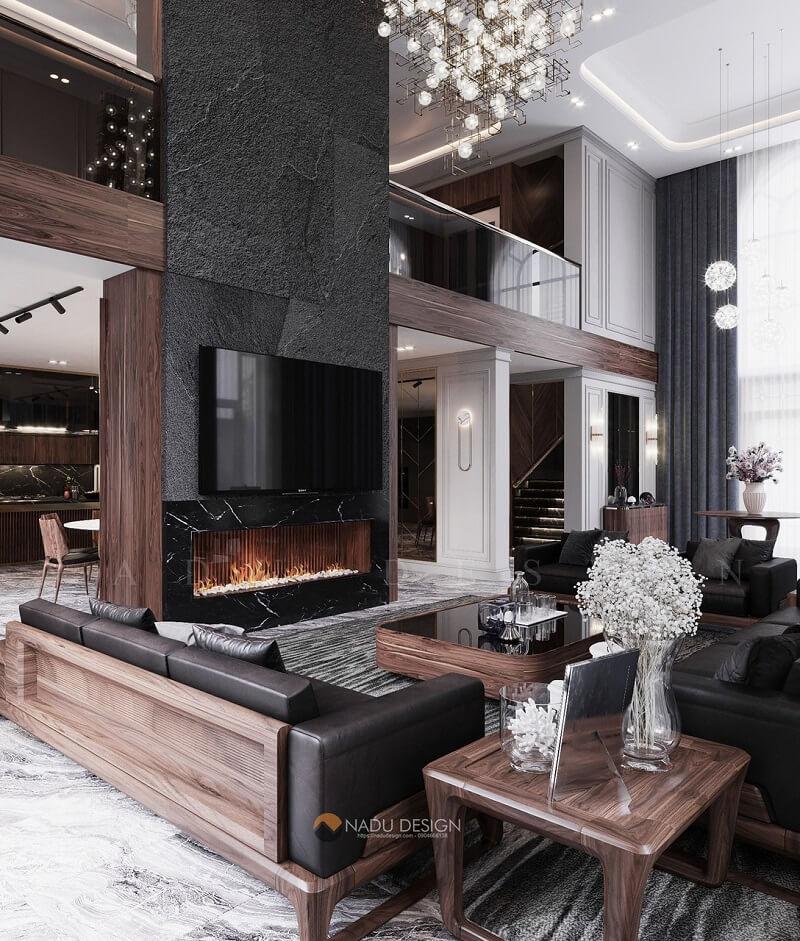 Nội thất gỗ óc chó NaDu Design – Lựa chọn hàng đầu của chủ nhân biệt thự siêu giàu