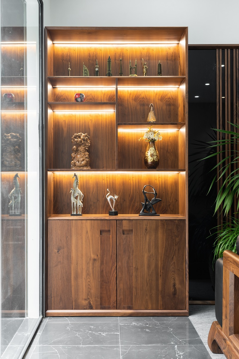 Tủ trang trí kết hợp đựng đồ tiện dụng