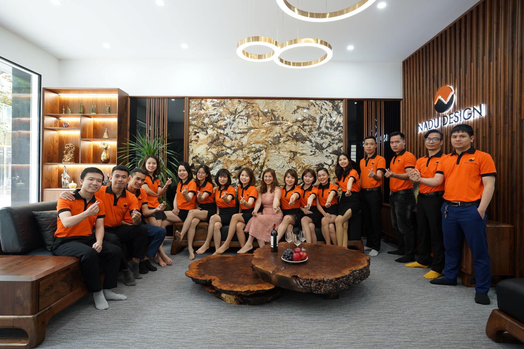 Nhân sự khối văn phòng Hà Nội của NaDu Design