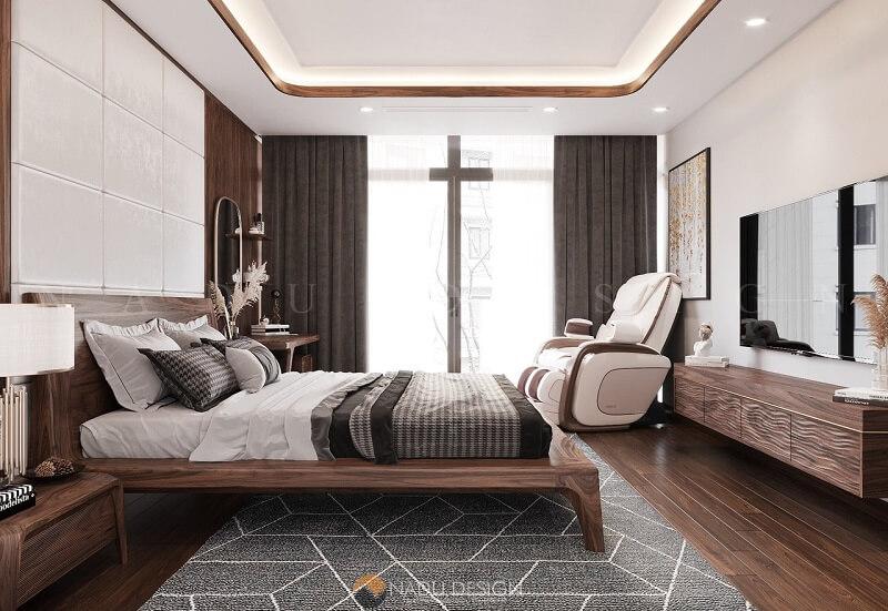 Một góc khác của phòng ngủ sang chảnh.