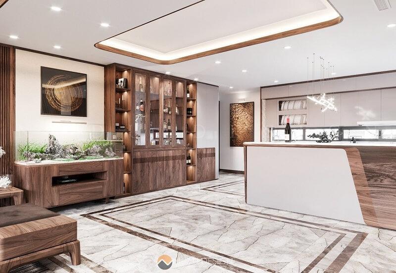 Hiểu được vị trí đắc địa và giá trị của căn Penhouse và tâm nguyện mà gia chủ gửi gắm, KTS NaDu đã lao động miệt mài để có thể mang đến không gian nội thất tôn lên được giá trị đắt giá của căn hộ.
