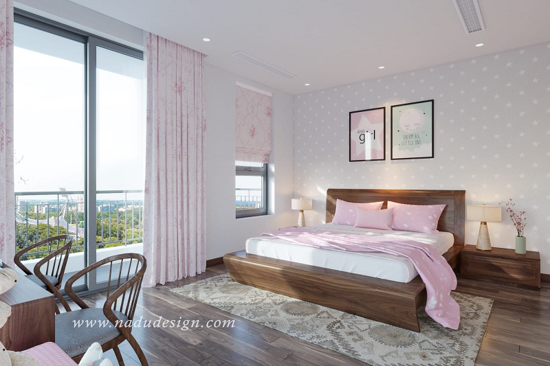 Giường ngủ đẹp gỗ tự nhiên hiện đại