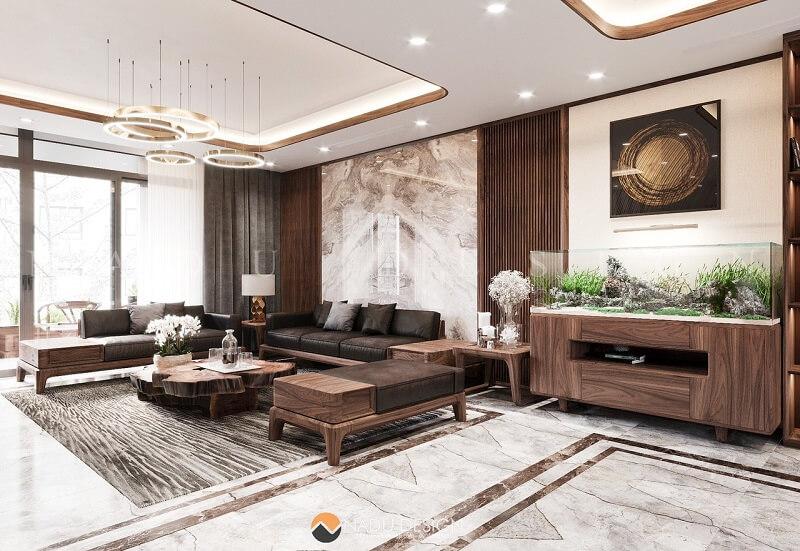 Sofa gỗ óc chó NaDu Design chế tác 100% từ gỗ óc chó Bắc Mỹ