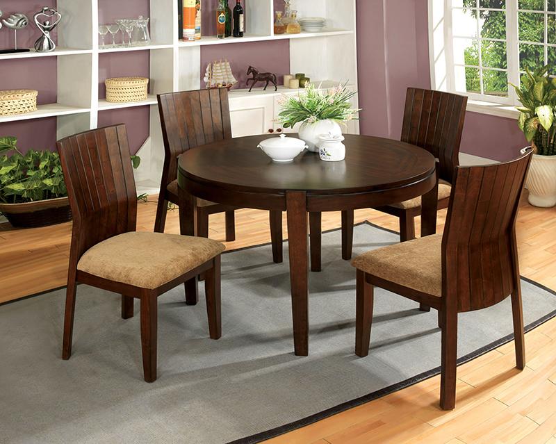 Mẫu bàn ăn gỗ óc chó kèm ghế thân thiện