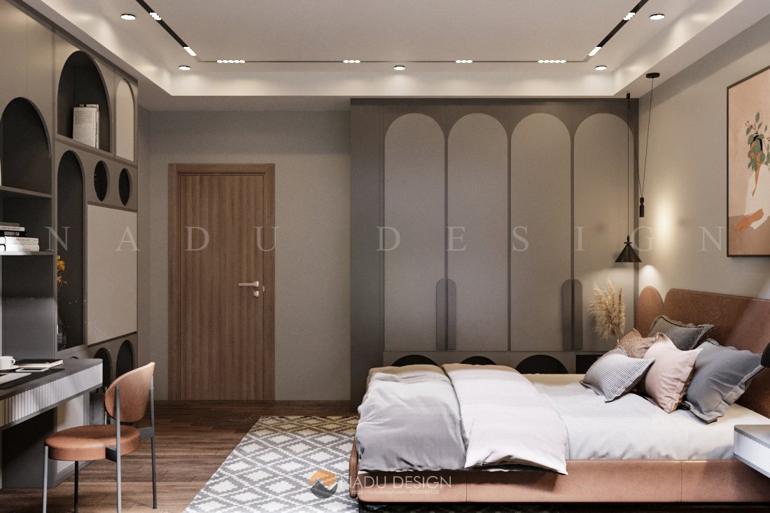 Phòng ngủ số 2 mang màu sắc tươi trẻ