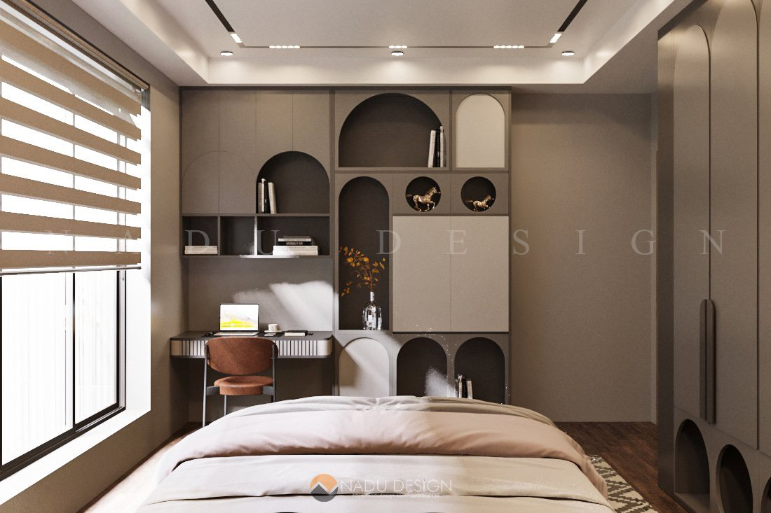Phòng ngủ số 2 nhìn từ trên đầu giường xuống