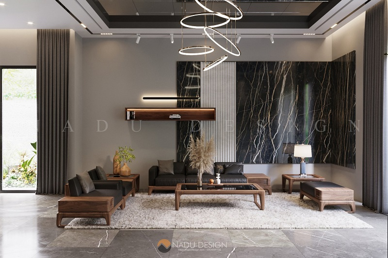 Siêu ấn tượng mẫu nội thất gỗ ó chó phòng khách chỉ có tại NaDu Design