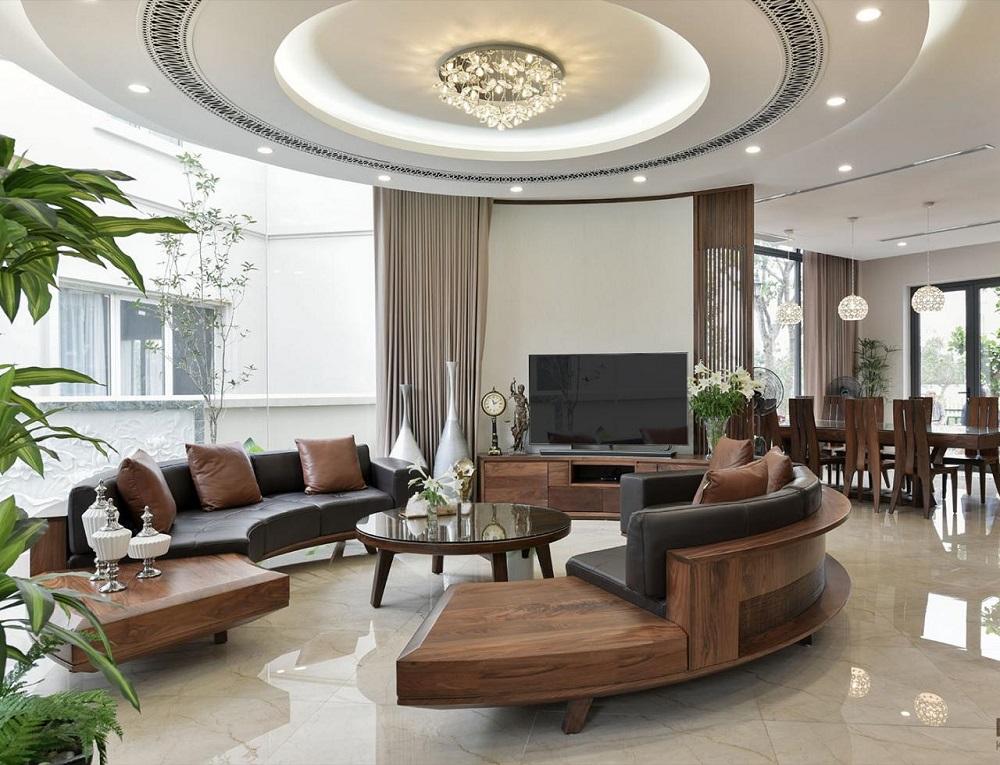 Tạo điểm nhấn cho phòng khách với bộ sofa hình chữ C