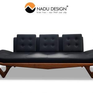 Sofa văng gỗ óc chó hiện đại