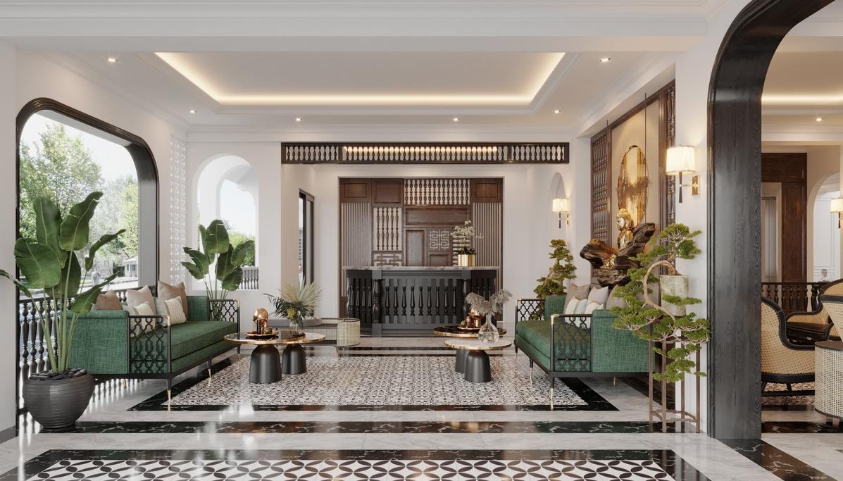 Thiết kế nội thất biệt thự đơn lập đẹp cuốn hút | NaDu